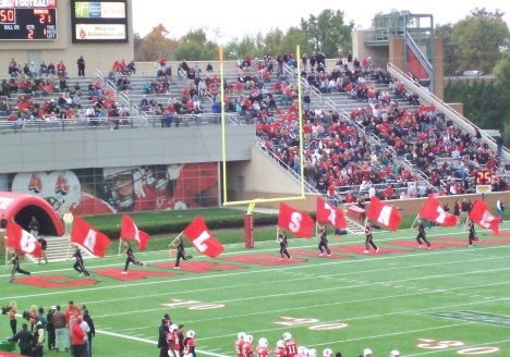 The Ball State cheerleaders did not do much running Friday night. So lets think back to a time when they did.