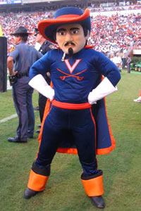 UVA's mascot alone makes me want to drive there and show them how to have a good time.